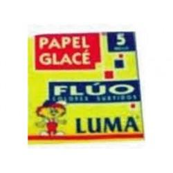 PAPEL GLACE FLUO X 100 LUMA