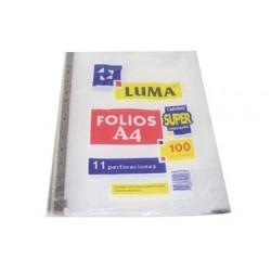 FOLIO A4 LUMA X100 CALIDAD...